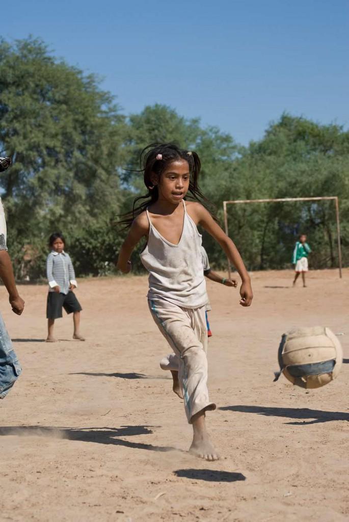 Fußballmädchen auf Cayin o Clim. Foto: Thomas Schmidt